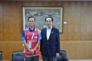 【メディア掲載】北上市長を表敬訪問